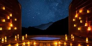 星空下尊享河畔温泉——日式汤屋