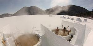 雪の汤|氷上露天風呂